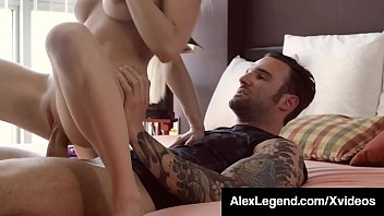 Super Sexy Blonde Christie Stevens invades Alex Legend's house, wears his girl friend's clothes & gets her sweet wet stalker pussy fucked by Alex's big french dick!