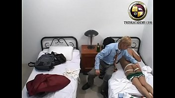 Latino twink plays with his room mate as...