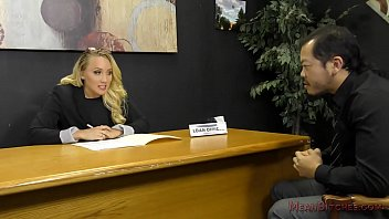 Loan Officer Makes Him Lick Ass To Get a Loan - AJ Applegate