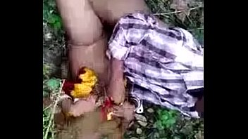 Indian couple caught in jungle while fucking
