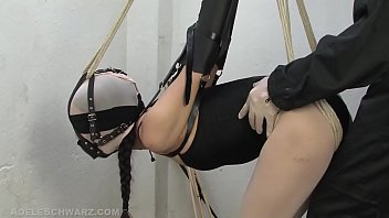 Gagged encased in pantyhose