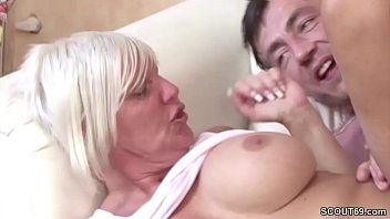 Big Tit German MILF seduce Young Guy agent to Fuck