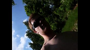 Naked outdoors holiday...