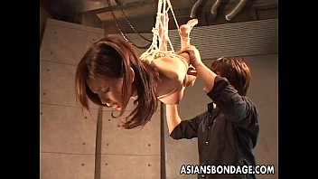 Asian slut hangs on the ropes as shes spun  #8569