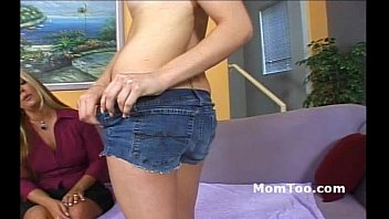 thumb Charming Busty Blonde Mom With Hairy Pussy And Daughter With Pigtails Show Pussy