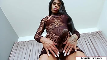 Busty tgirl Sabrina Loppes ass fingering