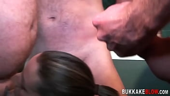 Milf With Big Tits Gets Face Cum Covered