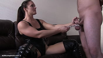 Free erotic ballbusting kicking ebony