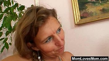 image Unshaven amateurmom gets toyed by perverse blond dame