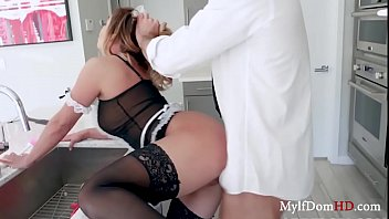 MILF Maid Pussy Tapped By Boss- Mia Lelani