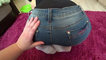 cover video Lesbian With A Strapon Fucked Girlfriend With A Sexy Butt In Tight Shorts