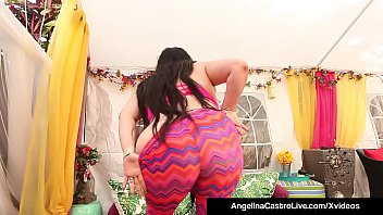 Huge Boobed Cuban BBW Angelina Castro & Asian Latina Cristi Ann stuff dildos inside their juicy pussies! Ready to Cum with these Curvy Babes? Full Video & Angelina Live @AngelinaCastroLive.com