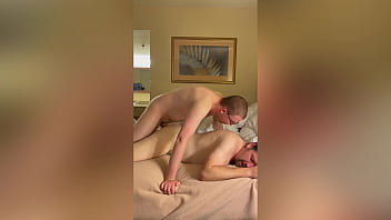 Hotel Fuck And Double Dildo Penetration With A Cock Loving Daddy
