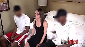 Interracial Anal Threeway and Ambush Creampie