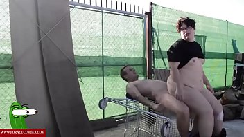 he fucks her in the shopping cart. RAF183