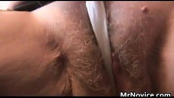 Hairy granny plays tits and pussy...