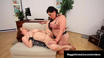 Mega Melons Maggie Green & Cuban BBW Angelina Castro strapon fuck their juicy wet plump pussies as Angelina gives Maggie her therapeutic twat thrusts! Full Video & Maggie Live @ MaggieGreenLive.com!
