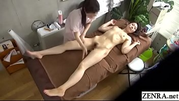 Pale Japanese wife first ever lesbian massage