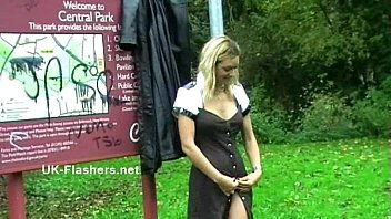 Homemade flashers footage of sexy milf Emma Louise toying in a park and upskirt park and