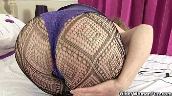 Diana and pearl going solo in fishnets...