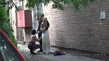 thumb Hot Ass Brunette Spanked In Public