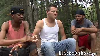 J. r. loves every inch of two black cocks
