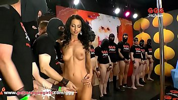 Petite Babe Swarmed by Cocks in German Gangbang GermanGoogirls