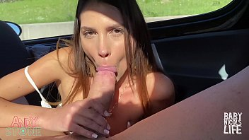SEX ON UBER, BLOWJOB IN THE BACK SEAT! PUBLIC FUCKING!