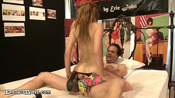 Petite Princess Kylie Nicole slurps & slobbers all over a hard POV cock & then takes it into her tiny teen twat as she fucks in crazy crayola heeled boots!