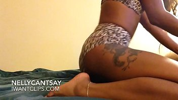 Fat Ass in Leopard Print Twerking on the Bed