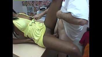Ebony Amateurs #6 - Sexy little black pussy fucked by white cock