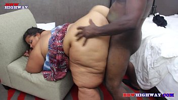 Huge as ssbbw getting fucked by big black cock