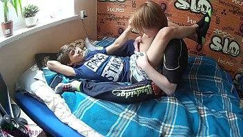 Two young friends doing gay acts that turned into a cumshot