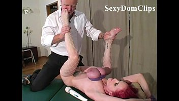 Hot lady Mz Berlin is tied up and fucked hard  with breasts compressed by ropes