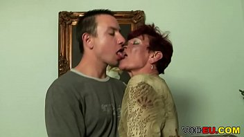 VODEU - Redhead grandma craving for young cock