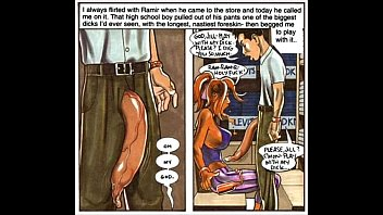 Tanned huge breast horny sex comics...