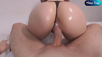 My Stepsister keeps Riding on my Dick after Creampie - Reverse Cowgirl POV
