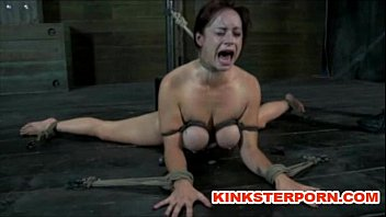 Bdsm suspension bonded and wide spread legs ass...
