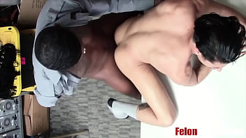 twink lets a bbc inside him to get out of jail