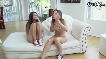 Latina lesbians get caught by step brother he...