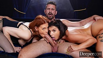 Deeper.Maitland Ward Passionate Threesome With Ivy Lebelle