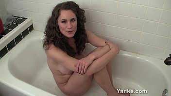 Superb Babe Alex Masturbating Her Pussy In The Bath Tube