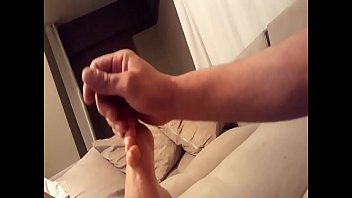 Gf loves feet massage her sexy soles toes...