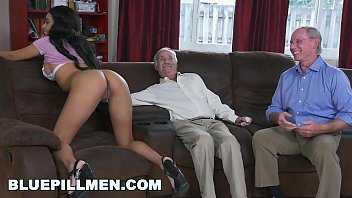 BLUE PILL MEN - A Couple Of Old Men Have Fun With Young Black Goddess Aaliyah Hadid