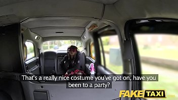 Fake Taxi Girl In Mask Gets Fucked In The Ass After Bf Leaves Her