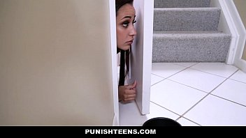 PunishTeens - Teen Brutally Fucked For Disobeying Her Master