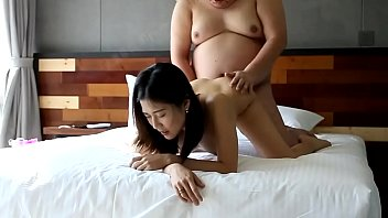 Fat guy fucks an asian chick anal by...