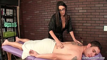 thumb Hot Brunette Masseuse Causes A Big Cumshot