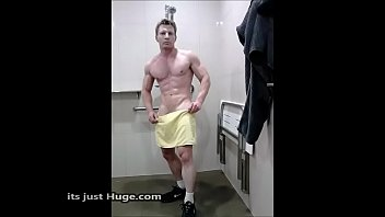 Sexy aussie wearing a towel muscular guy after...