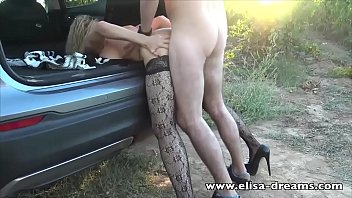 Hotwife gets fucked by a young guy outdoors